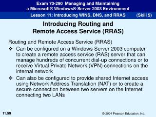Routing and Remote Access Service (RRAS)