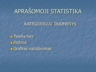 APRA�OMOJI STATISTIKA