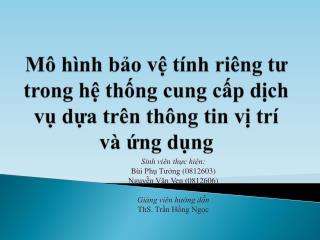 Sinh viên thực hiện : Bùi Phụ Tưởng  (0812603) Nguyễn Văn Ven  (0812606) Giảng viên hướng dẫn
