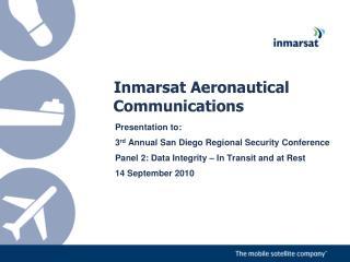 Inmarsat Aeronautical Communications