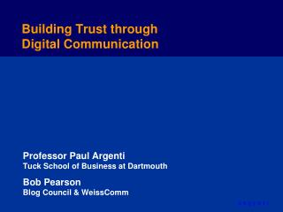 Building Trust through Digital Communication