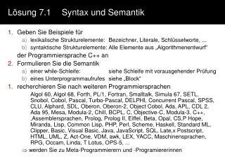 L�sung 7.1Syntax und Semantik