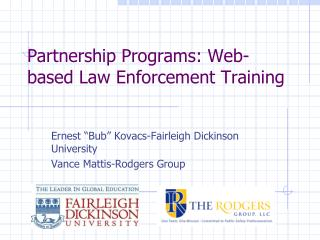 Partnership Programs: Web-based Law Enforcement Training