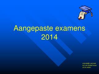 Aangepaste examens 2014