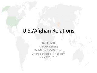 U.S./Afghan Relations
