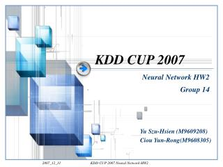 KDD CUP 2007