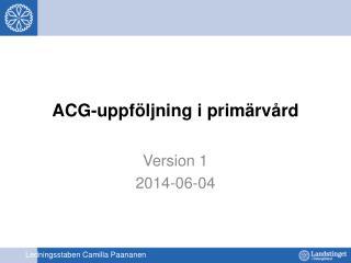 ACG-uppföljning i primärvård