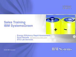 Sales Training IBM SystemsGreen