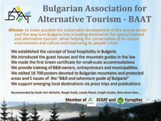 Bulgarian Association for Alternative Tourism - BAAT