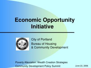 Economic Opportunity Initiative
