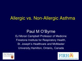 Allergic vs. Non-Allergic Asthma