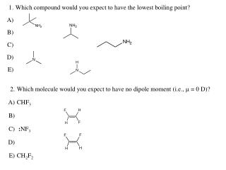 17. Functional groups  18. Not shared equally