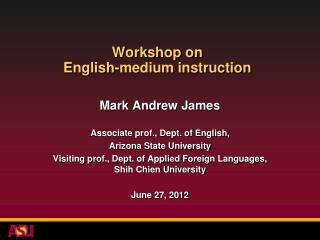Workshop on  English-medium instruction
