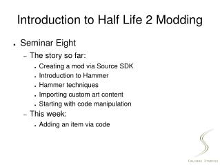 Introduction to Half Life 2 Modding