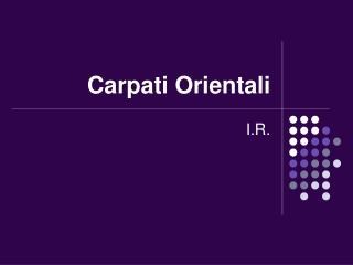 Carpati Orientali