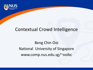 Contextual Crowd Intelligence