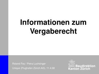 Informationen zum Vergaberecht