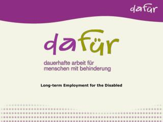 Long-term Employment for the Disabled