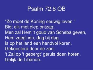 Psalm 72:8 OB