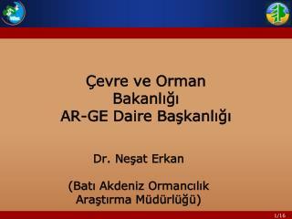 �evre ve Orman Bakanl???   AR-GE Daire Ba?kanl???