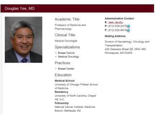 Websites to check Professor Yee's info