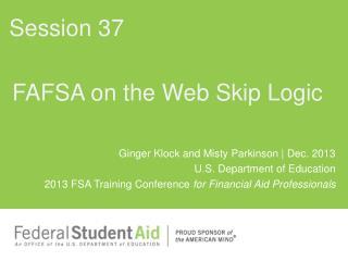 FAFSA on the Web Skip Logic