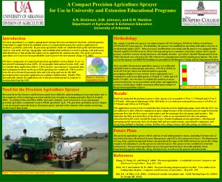 Need for the Precision Agriculture Sprayer