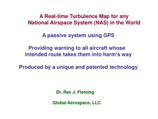 A Real-time Turbulence Map for any          National Airspace System (NAS) in the World