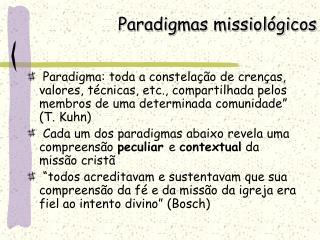Paradigmas missiológicos