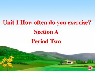 Unit 1 How often do you exercise? Section A  Period Two