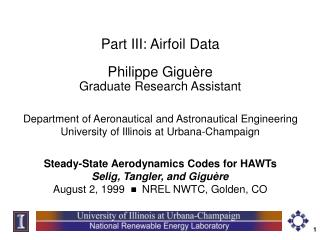 Part III: Airfoil Data