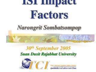 ISI Impact Factors