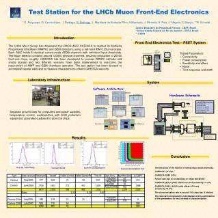 Test Station for the LHCb Muon Front-End Electronics