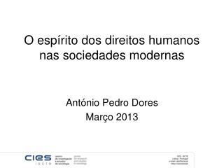 O espírito dos direitos humanos nas sociedades modernas