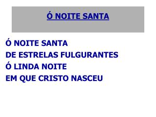 Ó NOITE SANTA