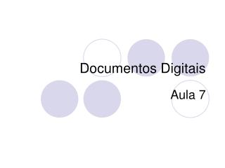 Documentos Digitais