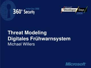 Threat Modeling Digitales Fr hwarnsystem Michael Willers