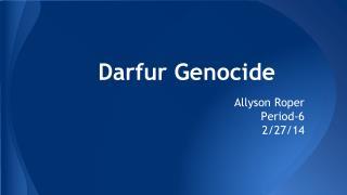 Darfur Genocide