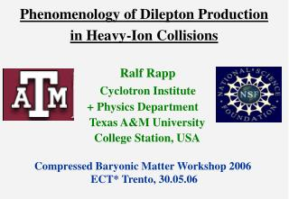 Phenomenology of Dilepton Production  in Heavy-Ion Collisions