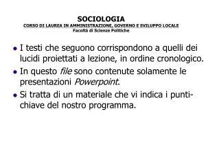 Docente: Alessandro Mongili
