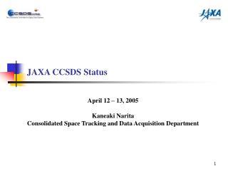 JAXA CCSDS Status