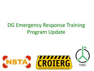 DG Emergency Response Training Program Update