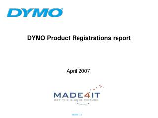 DYMO Product Registrations report
