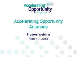 Accelerating Opportunity Arkansas