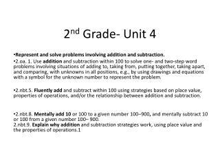 2 nd  Grade- Unit 4