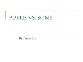 APPLE VS. SONY