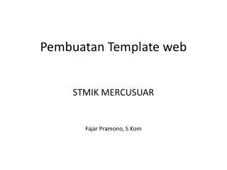 Pembuatan Template web