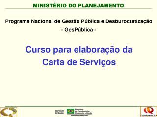 Curso para elaboração da Carta de Serviços