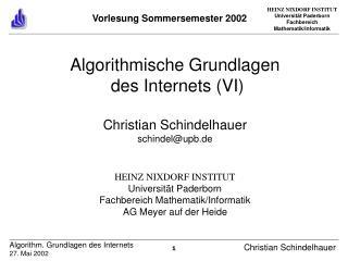Vorlesung Sommersemester 2002
