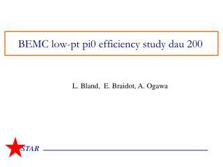 BEMC low-pt pi0 efficiency study dau 200